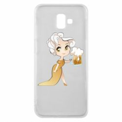 Чохол для Samsung J6 Plus 2018 Beer girl