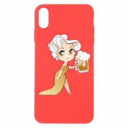 Чохол для iPhone X/Xs Beer girl