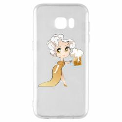 Чохол для Samsung S7 EDGE Beer girl
