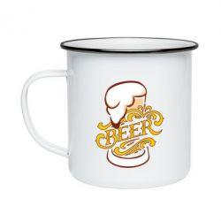 Кружка емальована Beer goblet