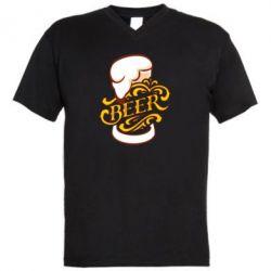 Чоловіча футболка з V-подібним вирізом Beer goblet