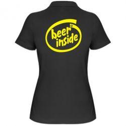 Женская футболка поло Beer Inside - FatLine