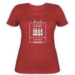 Женская футболка Beer