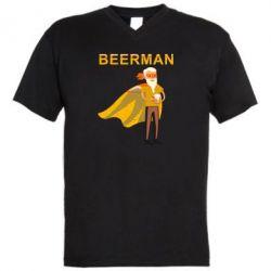 Чоловіча футболка з V-подібним вирізом BEERMAN
