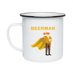 Кружка емальована BEERMAN
