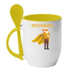 Кружка з керамічною ложкою BEERMAN