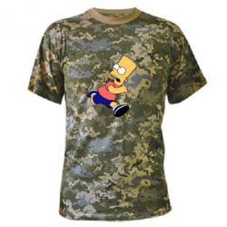 Камуфляжная футболка Беги, Барт, беги! - FatLine