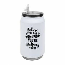Термобанка 350ml Believe you can and you're halfway there
