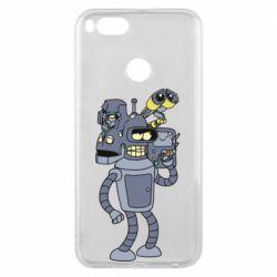 Чехол для Xiaomi Mi A1 Bender and the heads of robots