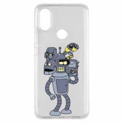 Чехол для Xiaomi Mi A2 Bender and the heads of robots