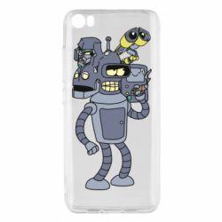Чехол для Xiaomi Mi5/Mi5 Pro Bender and the heads of robots