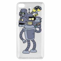 Чехол для Xiaomi Mi 5s Bender and the heads of robots