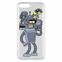 Чехол для Xiaomi Mi6 Bender and the heads of robots