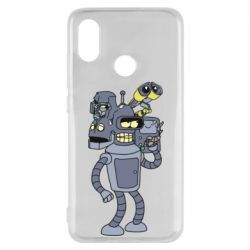 Чехол для Xiaomi Mi8 Bender and the heads of robots