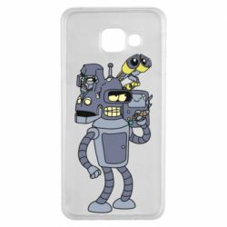 Чохол для Samsung A3 2016 Bender and the heads of robots