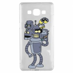 Чохол для Samsung A5 2015 Bender and the heads of robots