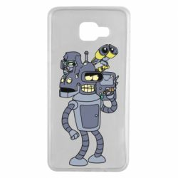 Чохол для Samsung A7 2016 Bender and the heads of robots
