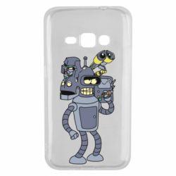 Чохол для Samsung J1 2016 Bender and the heads of robots