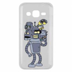Чохол для Samsung J2 2015 Bender and the heads of robots