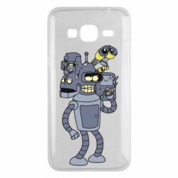 Чохол для Samsung J3 2016 Bender and the heads of robots