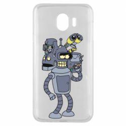 Чохол для Samsung J4 Bender and the heads of robots