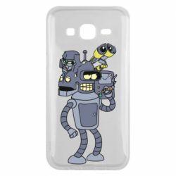Чохол для Samsung J5 2015 Bender and the heads of robots