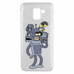Чохол для Samsung J6 Bender and the heads of robots