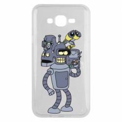 Чохол для Samsung J7 2015 Bender and the heads of robots