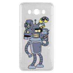 Чохол для Samsung J7 2016 Bender and the heads of robots