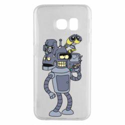 Чехол для Samsung S6 EDGE Bender and the heads of robots
