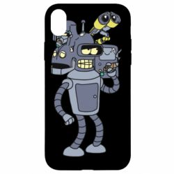 Чохол для iPhone XR Bender and the heads of robots