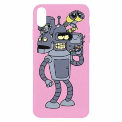 Чохол для iPhone Xs Max Bender and the heads of robots