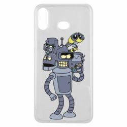 Чохол для Samsung A6s Bender and the heads of robots