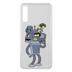 Чохол для Samsung A7 2018 Bender and the heads of robots