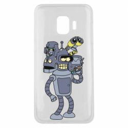 Чохол для Samsung J2 Core Bender and the heads of robots
