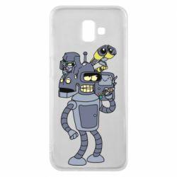 Чохол для Samsung J6 Plus 2018 Bender and the heads of robots