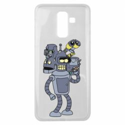 Чохол для Samsung J8 2018 Bender and the heads of robots