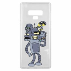 Чехол для Samsung Note 9 Bender and the heads of robots
