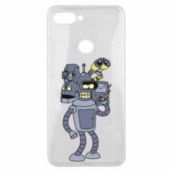 Чехол для Xiaomi Mi8 Lite Bender and the heads of robots