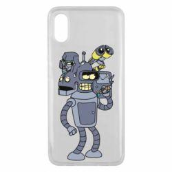 Чехол для Xiaomi Mi8 Pro Bender and the heads of robots