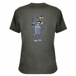 Камуфляжна футболка Bender and the heads of robots