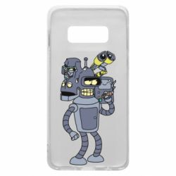 Чехол для Samsung S10e Bender and the heads of robots