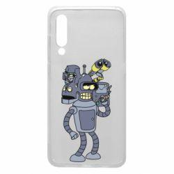 Чехол для Xiaomi Mi9 Bender and the heads of robots