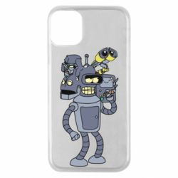 Чохол для iPhone 11 Pro Bender and the heads of robots