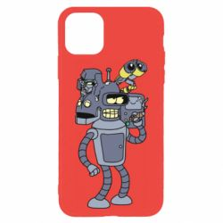 Чохол для iPhone 11 Pro Max Bender and the heads of robots