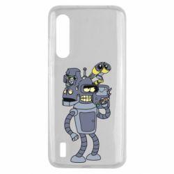 Чехол для Xiaomi Mi9 Lite Bender and the heads of robots