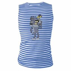 Майка-тільняшка Bender and the heads of robots