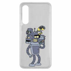 Чехол для Xiaomi Mi9 SE Bender and the heads of robots
