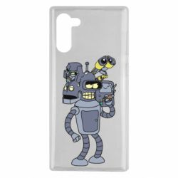 Чехол для Samsung Note 10 Bender and the heads of robots