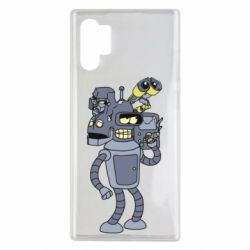 Чехол для Samsung Note 10 Plus Bender and the heads of robots